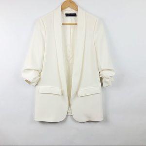 [ Zara Woman ] Long Crepe Blazer • Small